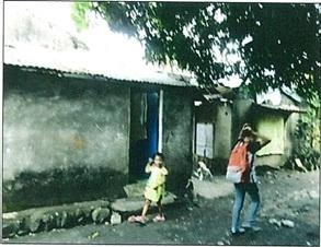 residential lot improved with dilapidated structures